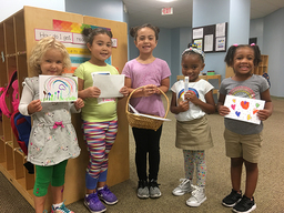 CHCA Students Send Cards to Hurricane Victims