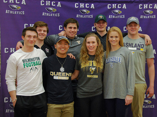 CHCA Seniors Sign with Athletic Scholarships