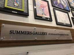 CHCA Dedicates Advanced Placement Art Gallery in Summers' Honor