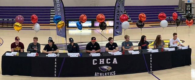 Ten CHCA Seniors Sign with Athletic Scholarships